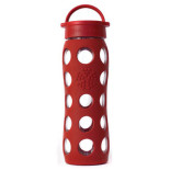 Lifefactory-Glass-Beverage-Bottle-With-Silicone-Sleeve-red