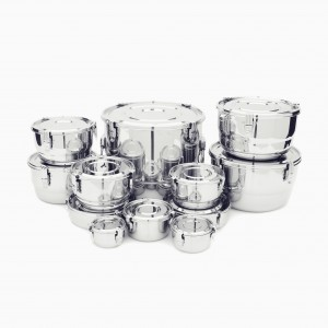 Airtight Watertight Stainless Steel Food Storage Containers