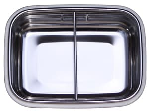 Leak proof stainless steel food storage container