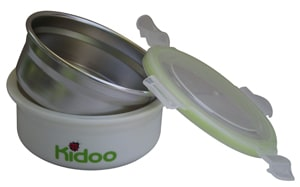 Round leakproof stainless steel food storage container